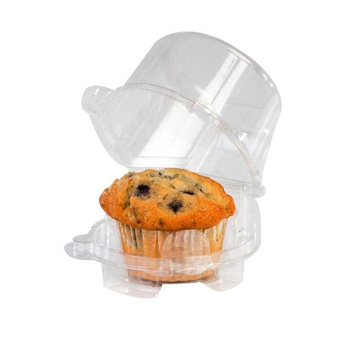 Clear Cupcake Muffin Single Individual Dome Container Box Plastic 25 Pieces-
