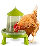 FARMZ - Mangeoire Poules Automatique Anti Nuisible sur Pieds 8 Kg - Accessoire Poulailler Abreuvoir Poules Filet Poules Pondeuses Abri Poule & Autres Volailles de votre élevage