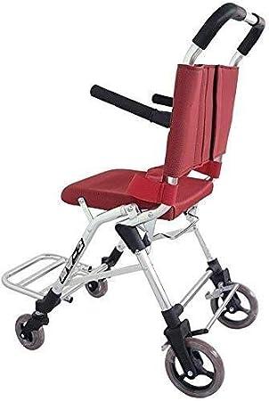 Hyy-yy -Fast silla de ruedas plegable portátil de silla de ruedas, autopropulsado ultra ligera de aluminio silla de ruedas silla de ruedas Pedalbrake, portátil acoplable, adecuado for los ancianos y D