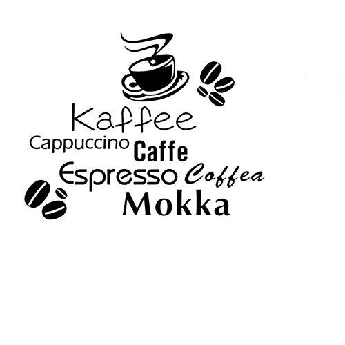 QTXINGMU Alle Arten Kaffee Angebot Wand Aufkleber Kaffee Tasse Kaffeebohnen Home Decor Home Decoration DIY Abnehmbare Wandmalerei Kunst