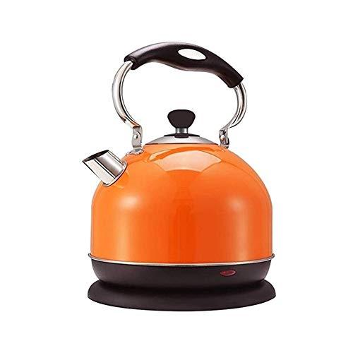 Bouilloire électrique, 3 litre théière Machines à thé acier inoxydable grande capacité 2000 W (Orange-3L)
