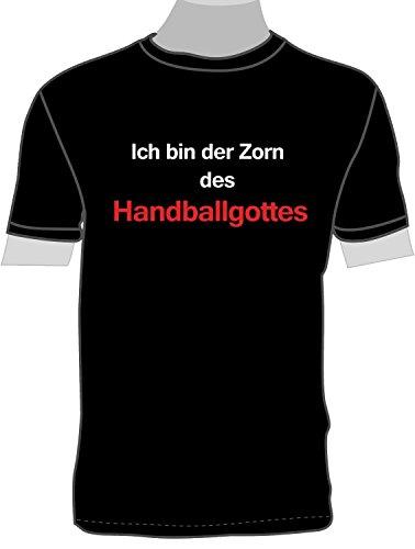 ShirtShop-Saar Ich Bin der Zorn des Handballgottes; T-Shirt