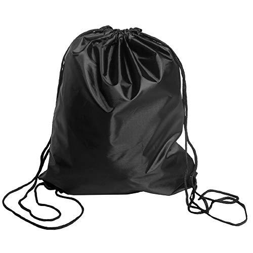 Mochila BINGONE deportiva, plegable, con cordón y perfecta para el hogar, para viajar y para guardar tus cosas, negro (1 pcs Black)