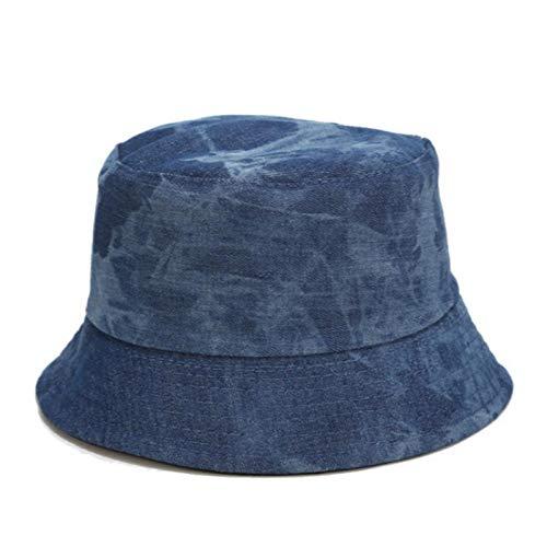 Bucket Hat Chapeau Tie Dye Denim Bucket Hat Cap Casual Jean Réversible Panama Two Side Wear Femmes Chapeau De Soleil Randonnée en Plein Air Casquette De Pêche Adultize Denim