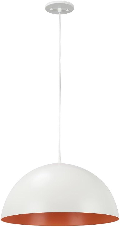 Aspen Creative 61040-1 Adjustable 1 Light Hanging Pendant Ceiling Light, Transitional Design in Matte White Finish, Metal Dome Shade, 17 3 4  Wide