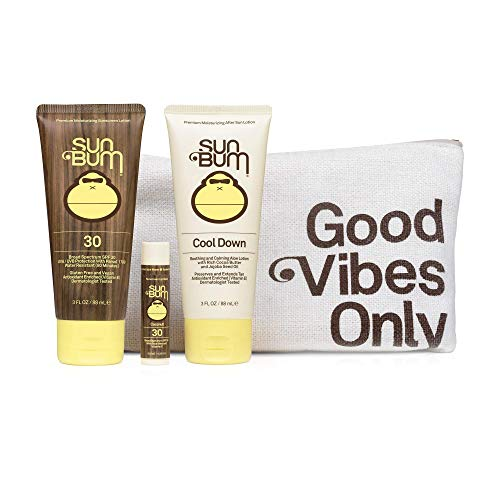 Sun Bum Premium Day Tripper | Travel-Sized Sun Care Pack with Moisturizing Sunscreen Lotion, Sunscreen Lip Balm and Hydrating Cool Down Lotion | Reef Friendly Broad Spectrum UVA/UVB Protection, Basic