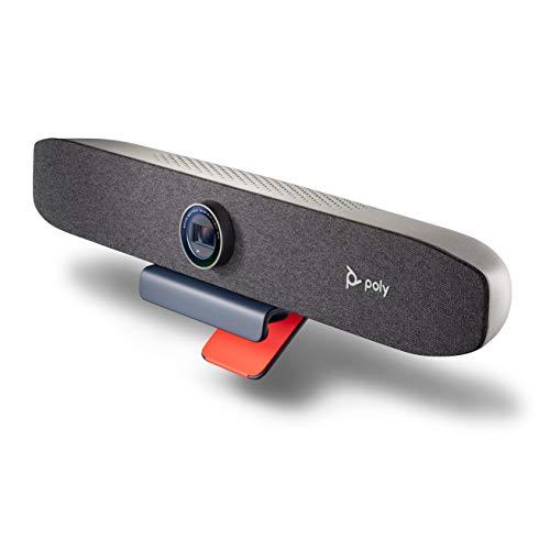 Persönliche Videobar Poly StudioP15 (Plantronics) – 4K-Videoqualität – All-in-One Bar – Kamera, Mikrofone und Lautsprecher – Premium-Audio und -Video – für Zoom und MicrosoftTeams zertifiziert