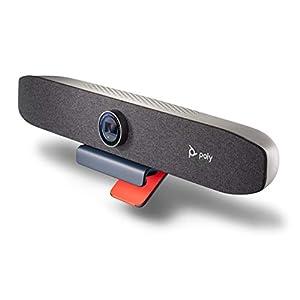 Poly Studio P15 Personal Video Bar (Plantronics + Polycom) – Complete Audio + Premium 4K Webcam Solution – Camera, Mics…