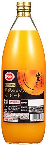 POM 愛媛みかんストレート 1000ml×6本 瓶