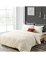 3 Pieces Duvet Cover Sets Full/Queen/King - Microfiber Duvet Covers with 2 Pillowcases