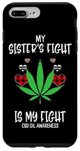 iPhone 7 Plus/8 Plus Cbd Oil Awareness My Sister's Fight Is My Fight Case