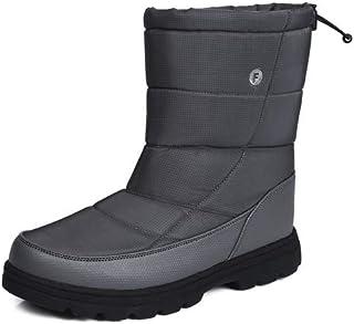 aeepd Winter Snow Boots Men Women Slip on Shoes Lightweight Water Resistant Warm Fur Lined