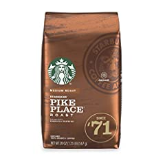 Pike Place Roast is well-rounded with subtle notes of cocoa and toasted nuts balancing the smooth mouthfeel Medium-roasted coffees are smooth and balanced with rich, approachable flavors Each pack includes one 20-ounce bag of ground Starbucks coffee ...
