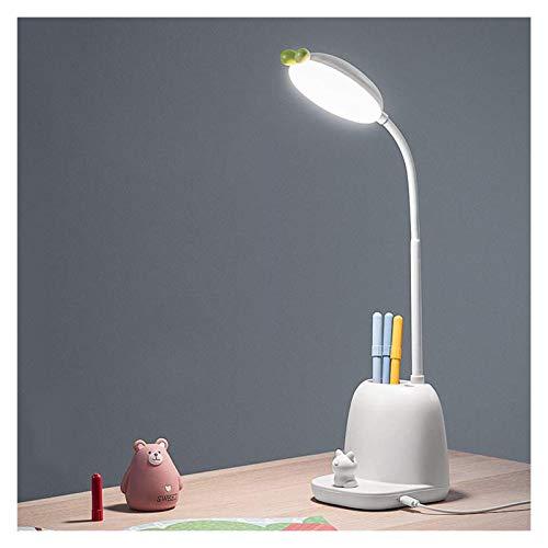 Lámpara Escritorio LED Lámpara de escritorio de atenuación de la mimentación de la escalera de enchufe, luz de escritorio LED con 3 modos de iluminación, lámpara de escritorio de lectura de llaves tác