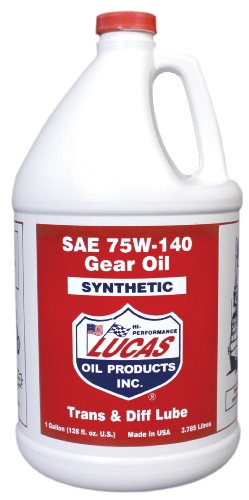 Lucas 10122 75/140 Synthetic Gear Oil - 1 Gallon