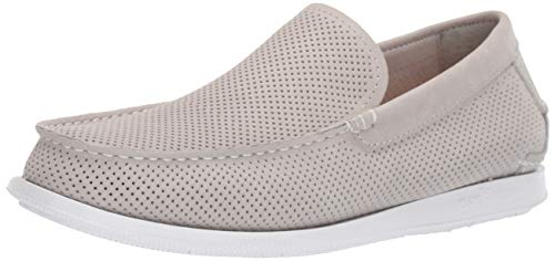 Grey Slip on Shoes for Men Leather