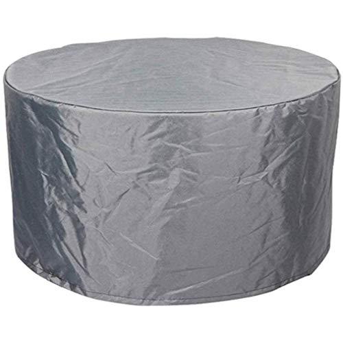 KOIJWWF Fundas Redondas para Muebles de jardín, Fundas Grises para Muebles de Exterior, Fundas para Muebles de Patio, Resistentes al Agua 420D,170x95x70cm