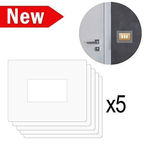 5 Salvaparete trasparente - Salva muro trasparente per placchette interruttori luce in plexiglass proteggi muro - placche salvamuro - salvaparete per placche - salvamuro per interruttori. Pacco 5 pz