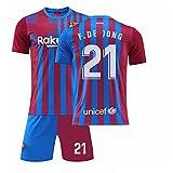 GDYJP Camiseta de fútbol Personalizada 21-22 Camiseta de Barcelona Versión Correcta Messi No. 10 Uniforme de fútbol Traje (Color : Home 21 Star, Tamaño : XL)