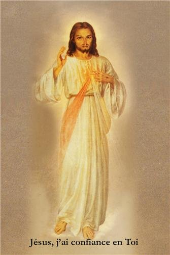 Lot de 50 Images 'Jésus j´ai confiance en Toi' - peinture des Pères Pallottins - format 10x15 cm