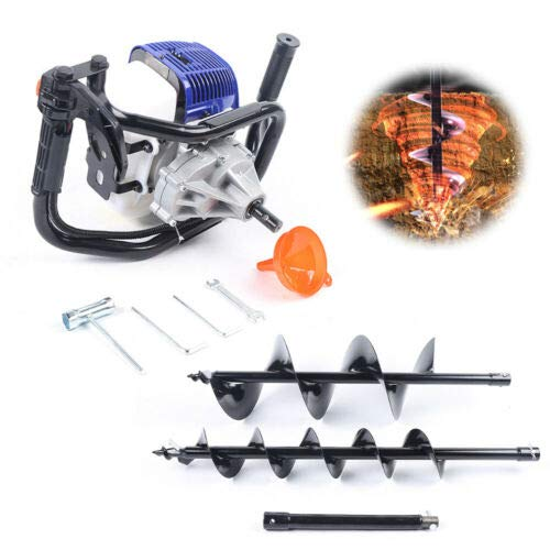 Earth Auger Power Engine Post Hole Digger Drill Bit Gasoline Engine 52CC