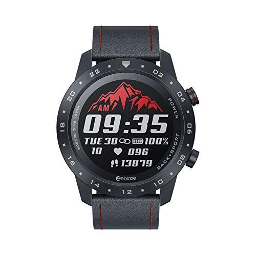 QueenHome Bluetooth 5.0 Smart Watch Runder Touchscreen-Herzfrequenzmesser für den neuen 2020 Zeblaze NEO 2