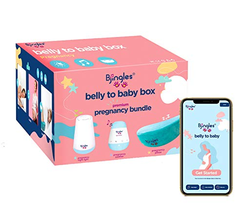 Bjingles Pregnancy Sleep Bundle 3 in 1Keep your Belly Safe Sound amp Comfy with Pregnancy Wedge Pillow Multicolor Night Light amp Music SootherIncl a Travel Bag to carry sleep essentials on the go