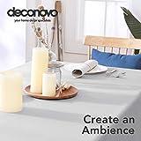Deconovo Tischdecke Wasserdicht Tischwäsche Lotuseffekt Tischtuch, 130x220 cm, Grau Weiß, 1 Stück - 3