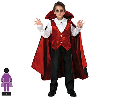 Atosa-95282 Halloween Disfraz Vampiro 5-6, Color rojo, 5 a 6 años (8.42226E+12)