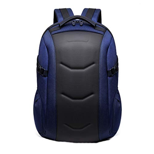 HHTD Mochilas para Hombres, Mochila para Hombre, Moda al Aire Libre Viajes de Negocios Viajes antirrobo Mochila Oxford Durable Impermeable Casual Viaje Mochila, Negro (Color : Blue)