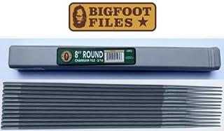 """Bigfoot 8 Inch Round Chainsaw Files 3/16"""" Sold By Dozen"""
