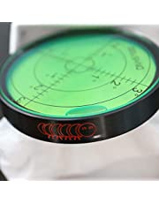 Nivel de burbuja grande de metal, Líquido Verde, grados, circular, nivel de superficie - recubrimiento de metal, ojo de toro, redondo, 60mm Diámetro