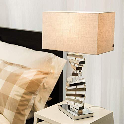 Moderna lámpara de mesa de acrílico giratoria paso a paso para sala...
