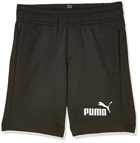 PUMA ESS Sweat Shorts B Pantalones Cortos, Niños, Cotton Black, 128