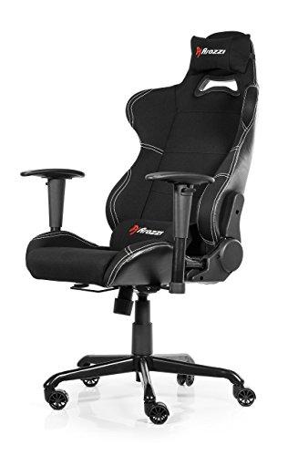 Arozzi - Torretta sedia da Gaming, Nero, 50 x 55 x 130
