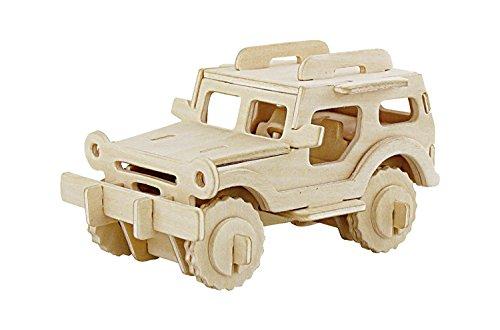 3D Puzzle Wooden Model Toy Kit Vehicle Bulid Car 38-pieces