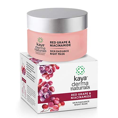 Kaya Clinic Red Grape & Niacinamide, Skin Radiance Night Mask Face Gel with Licorice & Manjistha for Skin Brightening & Even Tone, 50g