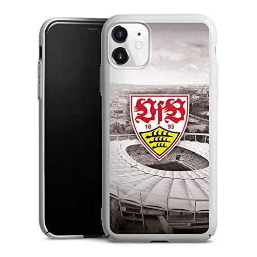 DeinDesign Hard Case kompatibel mit Apple iPhone 11 Schutzhülle weiß Smartphone Backcover VfB Stuttgart Offizielles Lizenzprodukt Stadion