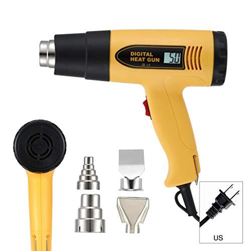 LouiseEvel215 Heißluftpistole Thermostat Heat Gun Set Heißluftgebläse Schrumpfverpackung Thermal Power Tool Kit Löten Gewehr-Heißluftpistole