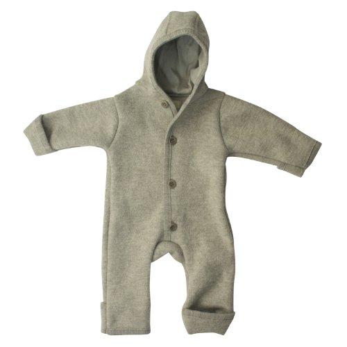 Disana Baby Strampler aus Merinowolle für Babys Gr. 0-2 Monate, grau