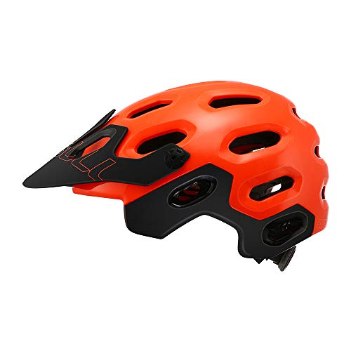 Cairbull Supercross Super Lightweight Bike Helmets 54-58cm Bicycle Helmet Casco de Ciclismo de montaña Black Orange (Naranja Brillante, S/M)