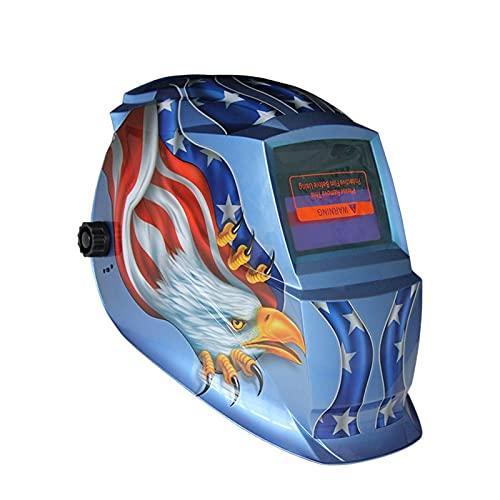 Accesorios de soldadura X701B Máscara de soldadura Soldadura eléctrica Casco Eagle Eagle Solar Auto Darkening TIG MIG MMA Casco de soldadura Kit de soldador