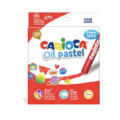 CARIOCA OIL PASTEL | 43278 - Pastelli a Olio Maxi, Colori Assortiti, 24 pezzi
