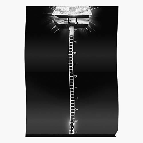 White Film Horror Paimon A24 Alternative Black Movie And Hereditary Regalo para la decoración del hogar Wall Art Print Poster 11.7 x 16.5 inch