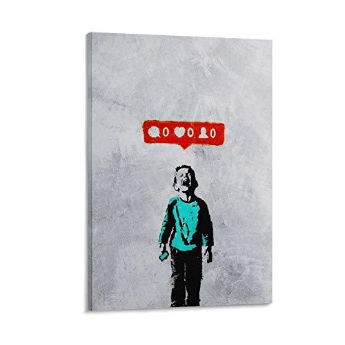 LAOLIU Banksy Economia Sentimentale Graffiti Stampa su tela da parete per la decorazione della camera da letto famiglia bagno poster estetico 40 x 60 cm