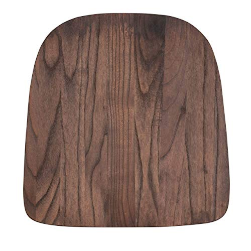 "Flash Furniture Metal Colorful Restaurant Chairs, 12"" - 14""W x 14""D x 0.75""H, Rustic Walnut"