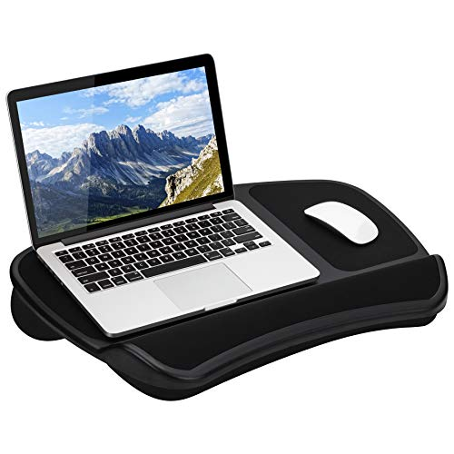 LapGear Original XL Laptop Lap Desk with Storage Pockets - Black - Style No. 45592