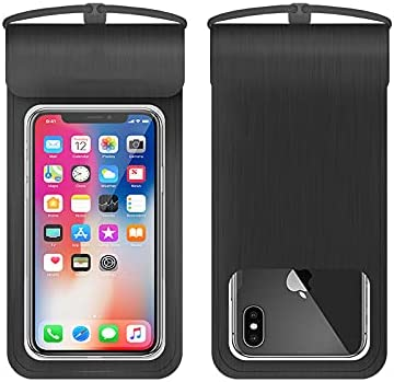 Universal Waterproof Pouch, IPX8 Waterproof Cellphone Dry Bag Underwater Case for iPhone11Pro Max Xs Max XR X 8 7 6S, Galaxy (Black)