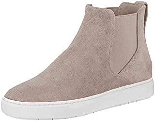 Womens Chelsea Sneakers Ankle Bootie Platform High Top Sip On Fashoin Flat Plain Faux Leather Shoes