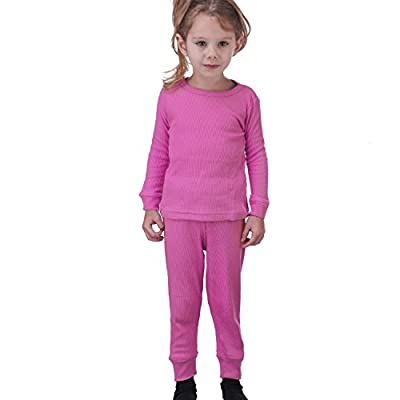 Artic Pole Zero Degree Infant-Girl Thermal Underwear Set (12M, Hot Pink)